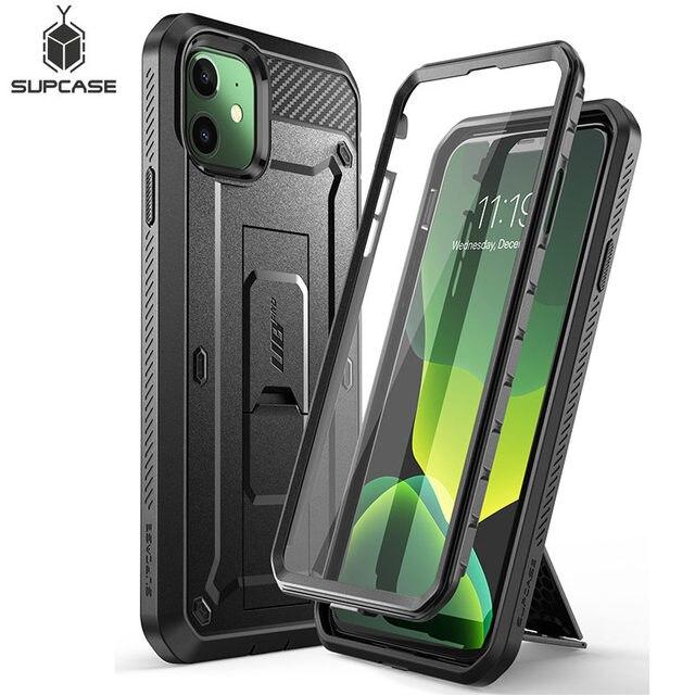 """Cho iPhone 11 6.1 """"(Phát Hành Năm 2019) bảo Vệ SUPCASE UB Pro Full Cơ Thể Chắc Chắn Bao Da Cover Với Xây Dựng Bảo Vệ Màn Hình Trong & Chân Đế"""