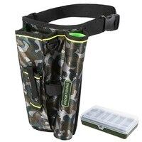 2 In 1 Tragbare Angeln Tasche Tackle Box Klapp Angeln Lagerung Tragen Tasche-in Angeltaschen aus Sport und Unterhaltung bei