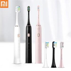 Image 1 - SOOCAS X3U звуковая электрическая зубная щетка перезаряжаемая ультра звуковая автоматическая зубная щетка для взрослых Водонепроницаемая Замена