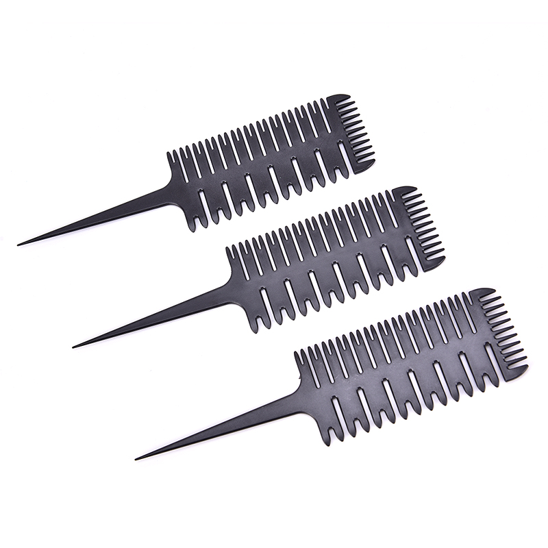 1pc Professional Unisex Tail Fish Bone Shape Hair Styling Comb Barber Salon Style Haircut Comb Women Big Tooth Comb Dyeing Tool