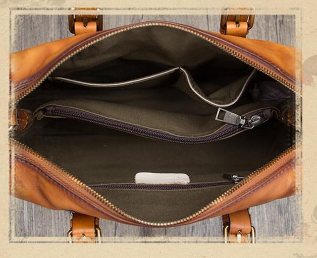 Γυναικείος δερμάτινος χαρτοφύλακας τσάντα ώμου