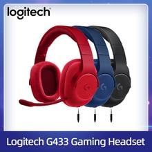 Logitech G433 7.1 Surround oyun kulaklığı kablolu kulaklık DTS mikrofonlu kulaklık Nintendo anahtarı PS4 Xbox One tabletler ve cep