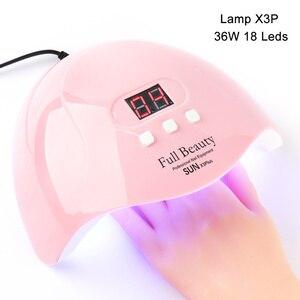 Image 5 - UV Lamp For Manicure LED Nail Dryer Lamp Sun Light Curing All Gel Polish Drying UV Gel USB Smart Timing Nail Art Tools LASTAR6 1