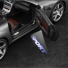 2X LED Auto Tür Logo Projektor Licht Zubehör Für Volvo S60 V40 XC90 XC60 Nissan Juke Tiida Hinweis Teana Murano qashqai J11 J10