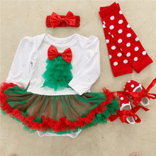 0-24M Newborn Baby Boys Girls Christmas Rompers Long Sleeve Autumn Clothing Infant Tree New Year Outfits