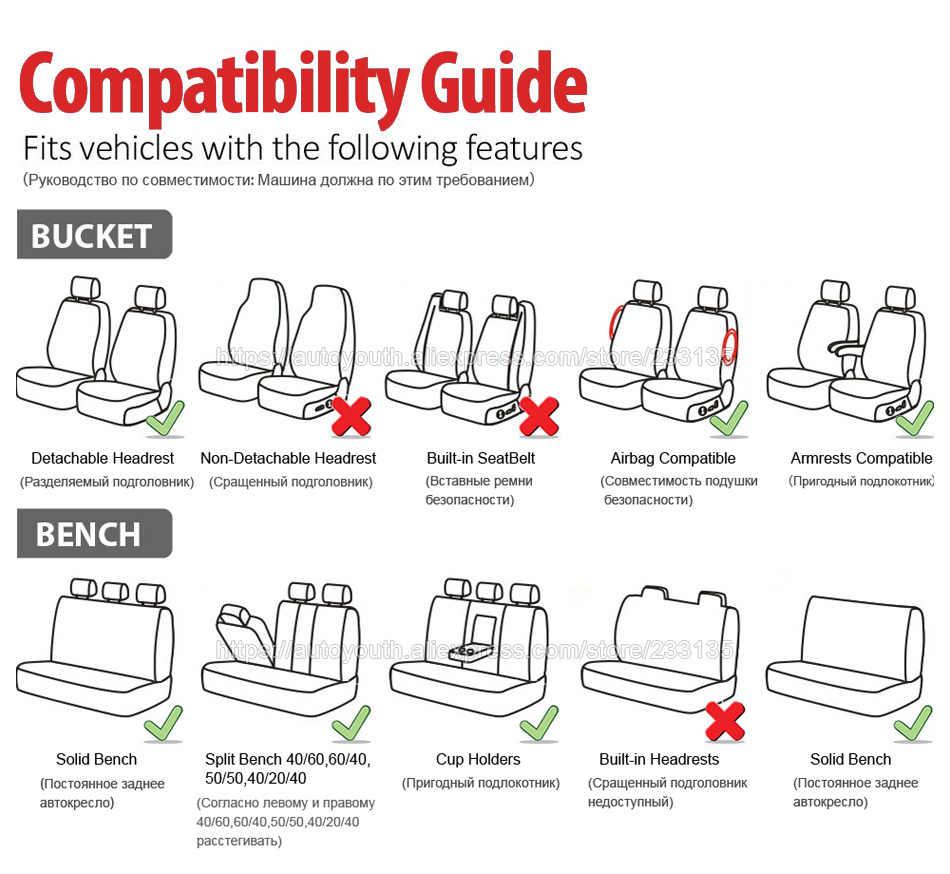 Autoyouth Bordir Kupu-kupu Kursi Mobil Penutup Universal Cocok untuk Sebagian Besar Kendaraan Kursi Aksesoris Hitam Kursi