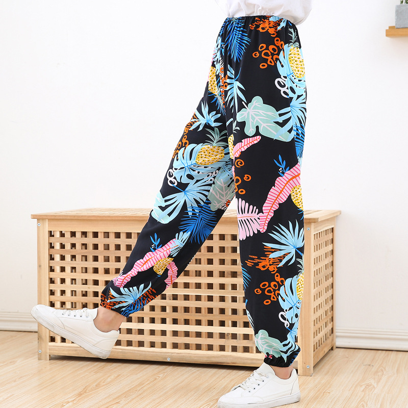 Kids Girls Boys Mosquito-proof Pants Summer Lantern Pants Colorful Harlan Trousers Size 2 4 5 6 7T 8 Year Children Clothing Fall(China)
