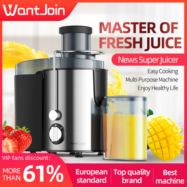 Wantjoin Manual Juice Extractor Ce Round Stainless Juicing Machine Lemon Juicer For Apples Single Auger Electric Juicers Orange