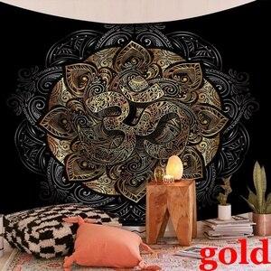 Индийская МАНДАЛА ГОБЕЛЕН на стену гобелен, ковер психоделическая ткань гобелены Бохо украшение для дома