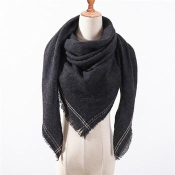 Designer 2020 Winter Triangle Scarf For Women luxury Brand palid Shawl Cashmere Scarves warm neck Blanket lady bandana pashmina - discount item  38% OFF Scarves & Wraps