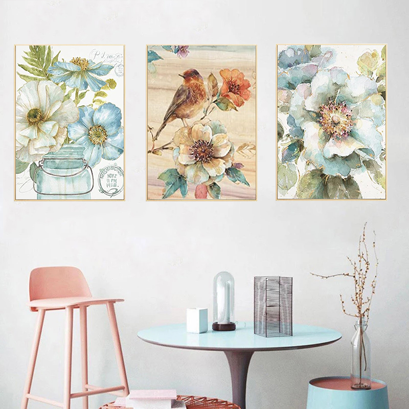 GATYZTORY 3PCS Diy Painting By Number Flower Painting By Numbers Paint Flower DIY Canvas Picture Hand Painted Home Decor Gift