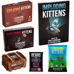 Jogos de tabuleiro explodir cartas jogo para gatinho edição original expansão gatinhos pacote jogo exploding para gatinhos