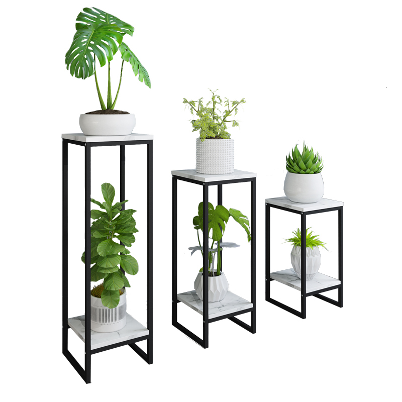 Iron Art  Indoor Ground Flowerpot Frame Household Decorate Rack Rack Chlorophytum Flower Airs