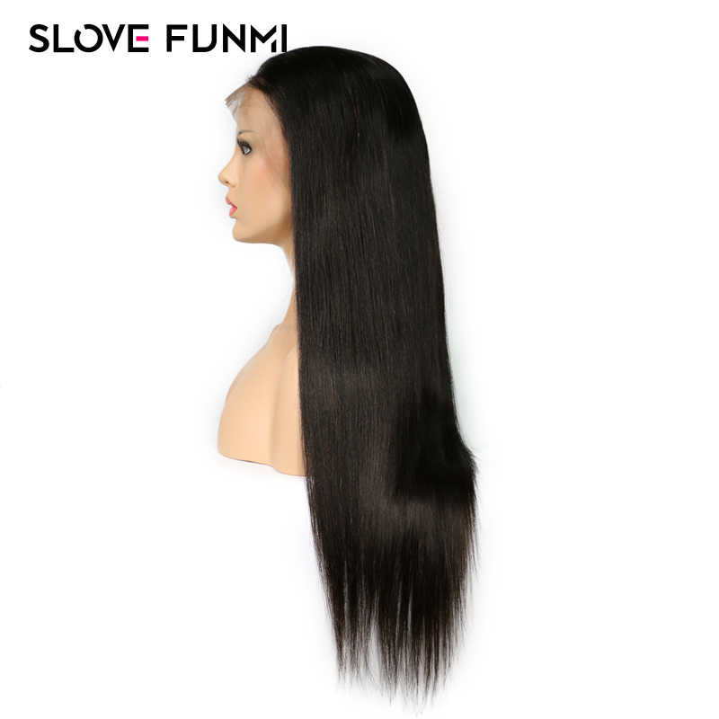 13*4 Lace Front Human Hair Wigs Straight Lace front Human hair Wigs 100% Brazilian Remy Pre Plucked With Baby Hair Slove Funmi