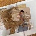 Женская мода шампанское прозрачный захватывающий зажим заколка для волос аксессуары для волос повязки для волос для женщин