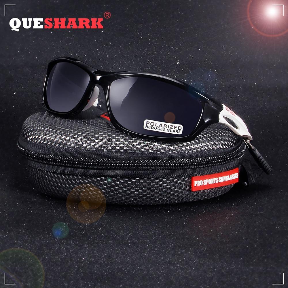 QUESHARK Unbreakable TR90 Untralight Frame HD Polarized Sunglasses Fishing Eyewear Glasses For Men Women Hiking Running Golf