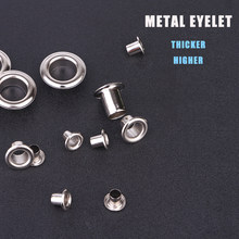 DIY 4.5mm Metal Eyelets Hollow rivet Advertising Grommets Buttonhole Canvas thickened hole button Tarpaulin buckle()