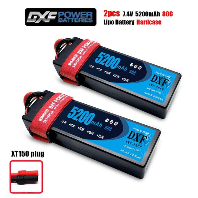 DXF 2S 7.4V 5200mah 80C