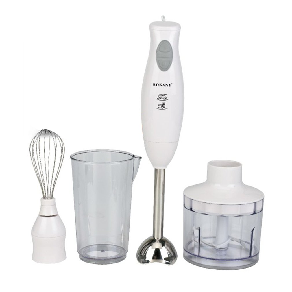 Multifunctional Stainless Steel Hand Blender 200W High Power Electric Meat Mixer Egg Beater Food Cooking Tools