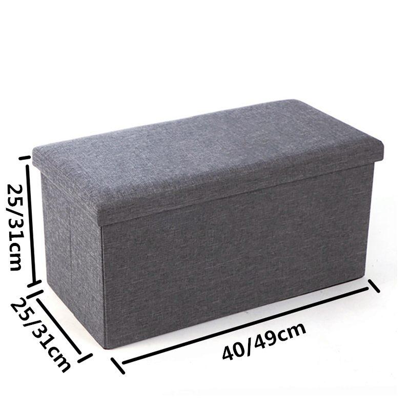 NEW! Multifunctional Foldable Fabric Storage Stool Bench Box Linen Small Sofa Minimalist Artistic Style Kid Chair Foot Stool