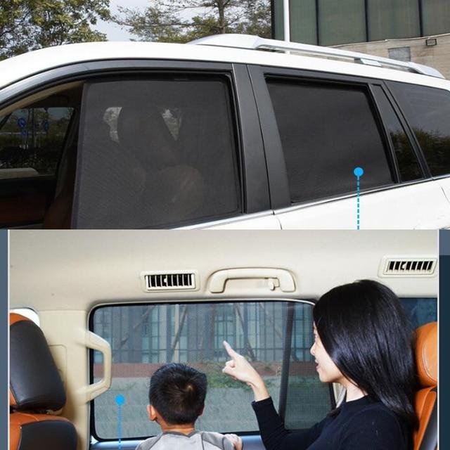 Pare-soleil magnétique pour voiture, 7 pièces, pour Toyota RAV4 RAV 4 2020 2019, pare-soleil en maille, fenêtre latérale, isolation
