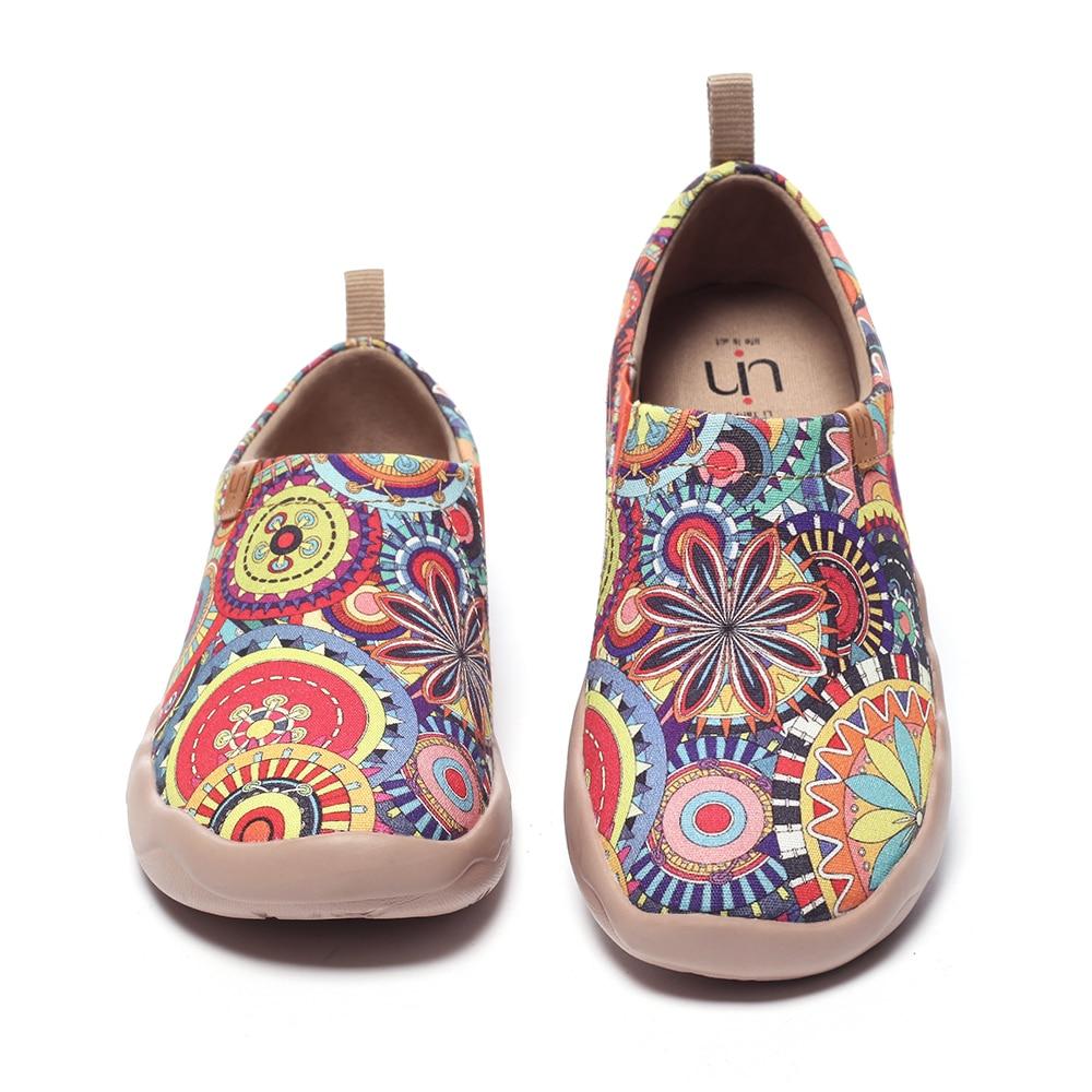 UIN Blossom turnschuhe Casual Wohnungen Frauen Fashion Floral Kunst Gemalt Leinwand Slip-On Damen Comfort Travel Schuhe