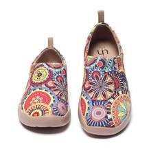 UIN Fiore scarpe da ginnastica Casual Appartamenti Donna Fashion Floreale di Arte della Tela di Canapa Dipinta Mocassini Slip-On Scarpe Delle Signore Comfort di Viaggio