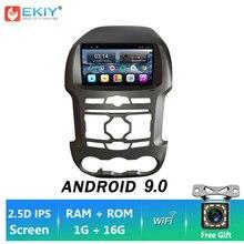 EKIY 9'' IPS Android 9.0 DSP 2DIN Car Radio BT HU Stereo DVD For Ford Ranger F250 2011/2012-2015 Auto Multimedia GPS Navi Player