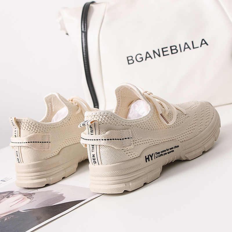 Buty kobieta moda dzikie latające tkane wybuchowe kobiet buty wygodne absorpcja potu trampki damskie buty Chaussures Femme