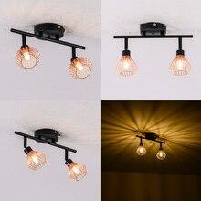 Lâmpadas de teto rotação nórdica, lâmpadas para teto, armação g9, gaiola criativa, 1/2/3 cabeças, para casa restaurante de decoração