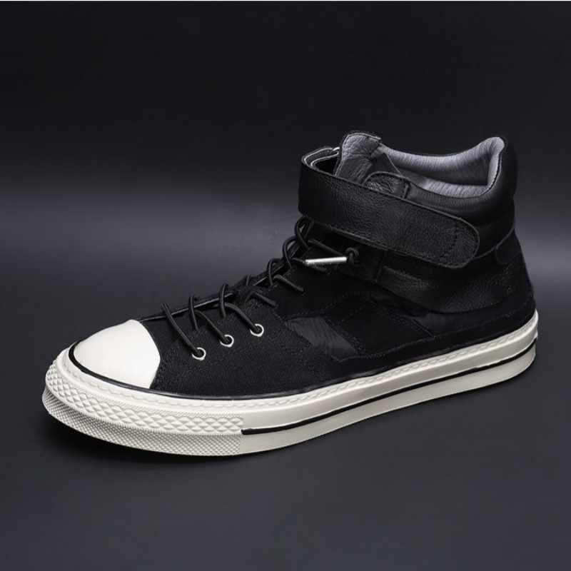 Sapatos masculinos de alta qualidade outono branco sapatos de lona de retalhos sapatos de lona de luxo formadores alpercatas preto rua hip hop sapatos