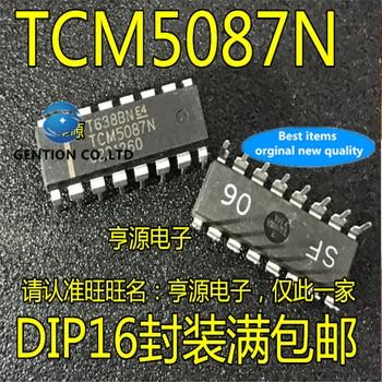5Pcs TCM5087 TCM5087N DIP16 Audio coding chip in stock  100% new and original