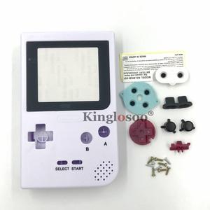 Image 3 - זוהר מלא סט שיכון מעטפת כיסוי מקרה w/גומי pad עבור gameboy כיס GBP כפתורי צדף