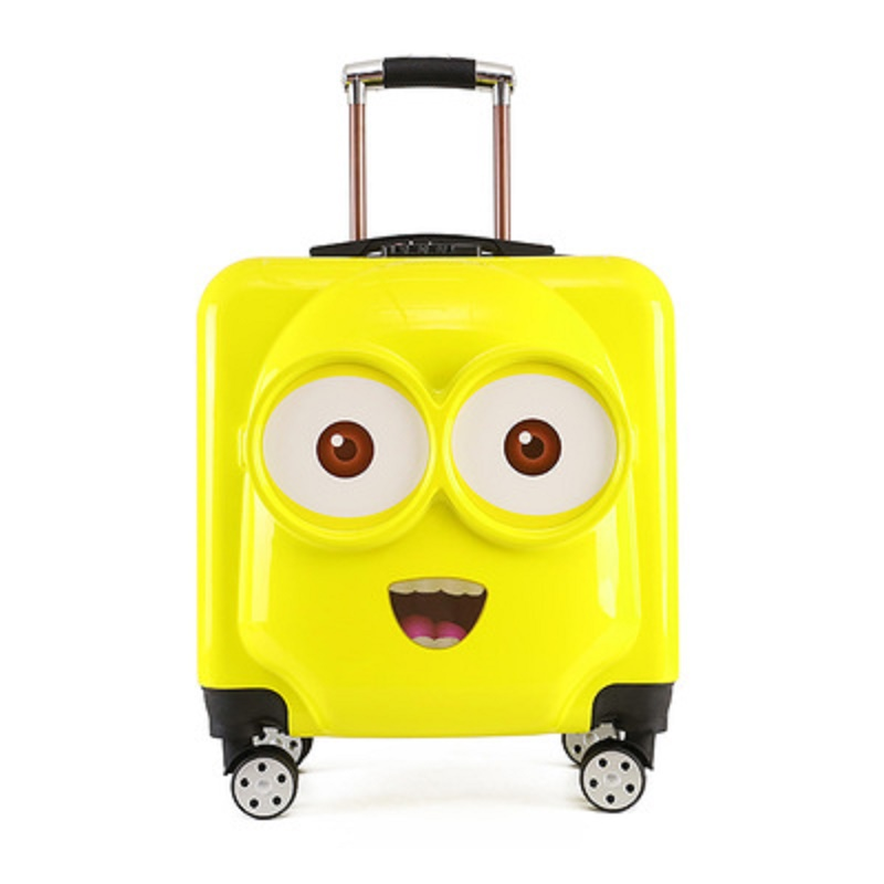 Cute Travel For Kids Cartoon Minions 18/20 Inch PC  Rolling Luggage Child-specific  Travel Suitcase