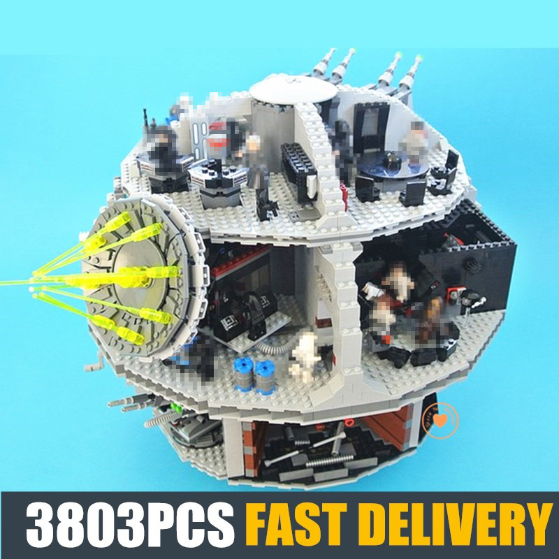 NEW 3803Pcs Death Starwars Fit Star Wars Figures Model Building Block Bricks Kids Educational Toys Boys