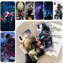 Cool Motorbike TPU Soft Silicone Phone Case Cover For iphone 6 6s plus 7 8 plus X XS XR XS MAX 11 11 pro 11 Pro Max Cover silicone phone case for iphone 8 7 6 6s plus x xr xs max soft tpu van gogh starry night cover for apple iphone 11 pro max coque