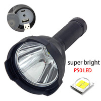 Powerful super Led Flashlight xhp50.2 Long Searchlight USB Rechargeable bright P50 lanterna Flash Torch Search Light torchlight