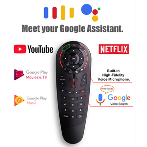 Image 2 - g30 Air Mouse g30s fly airmouse 2.4G Remote Control Controller Google Voice For Htv 6 box Xiaomi i9 X96 H96 max Mag 322 tv Box