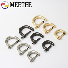 Meetee 5pcs 1-2cm D-ring Metal O D Ring Buckles Bag Purse Strap Belt Hang Buckle Sewing Handmade Manual Buttons Accessories H6-3