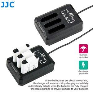 Image 2 - JJC USB לשלושה סוללה מטען עבור Ricoh GRIII WG6 אולימפוס קשה TG6 TG5 TG4 TG3 TG2 TG1 מצלמות עבור Ricoh DB 110 אולימפוס LI 90B