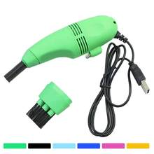 Mini USB Car Vacuum Cleaner Computer PC Laptop Brush Auto Interior Air Vent Gap Dust Dust Cleaning Kit Tools(China)