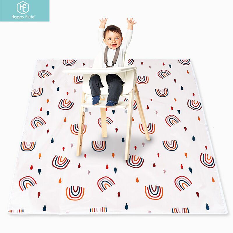 Esteira do jogo do bebê da flauta feliz, esteira de rastejamento do bebê portátil impermeável, tapete de dobramento antiderrapante para o uso interno ou exterior do bebê