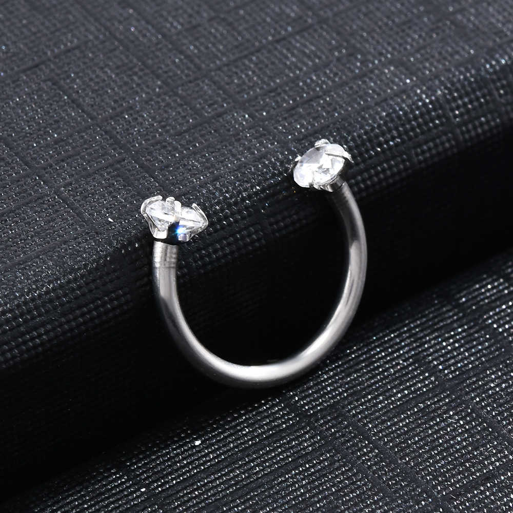 2019 יפה פירסינג Septo האף שפתיים אוזן מחץ סחוס בשבי חישוק טבעת תכשיטי Pendientes Tragus Mujer האף פירסינג תכשיטים