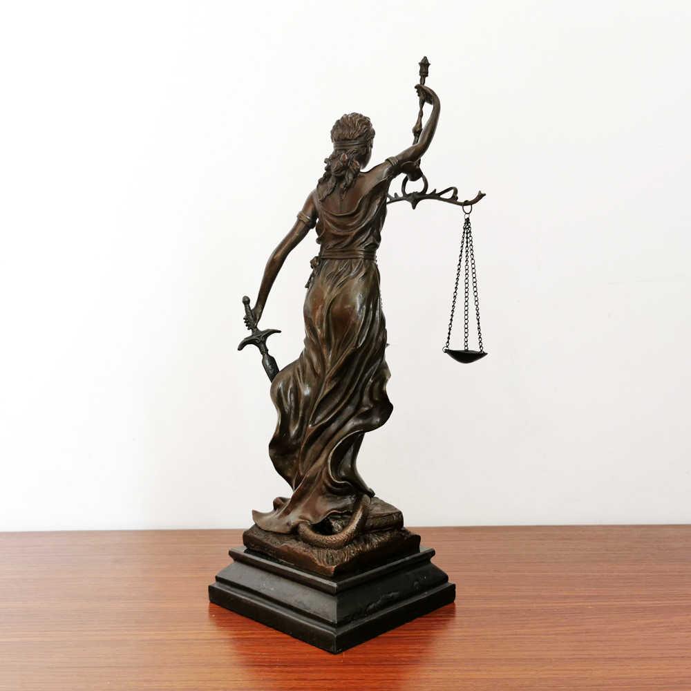 Greek Roman Goddess of Justice Figurine Blind Lady Justice Statue Sculpture