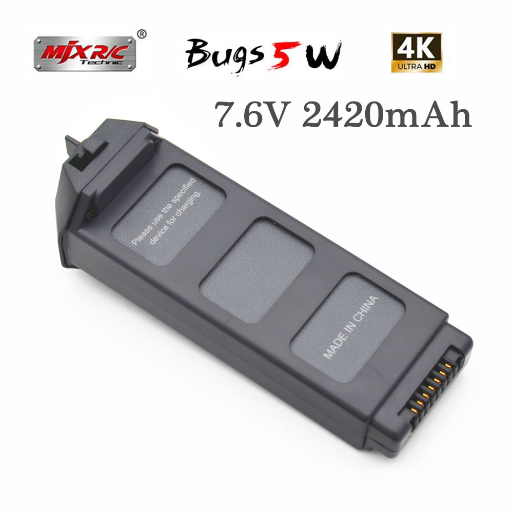 7.6V 2420mah 18.39Wh Li-po Battery Replacement Battery for MJX B5W Bugs 5W 4K Version RC Quadcopter
