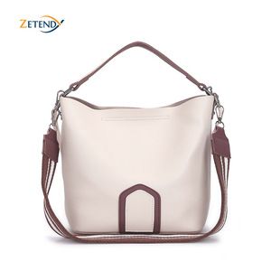 Image 1 - Ladies Crossbody Bag European and American Leisure Fashion Shoulder Bag High Quality Solid Handbag Simple Tassel Bucket Bags