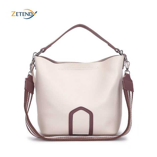 Ladies Crossbody Bag European and American Leisure Fashion Shoulder Bag High Quality Solid Handbag Simple Tassel Bucket Bags