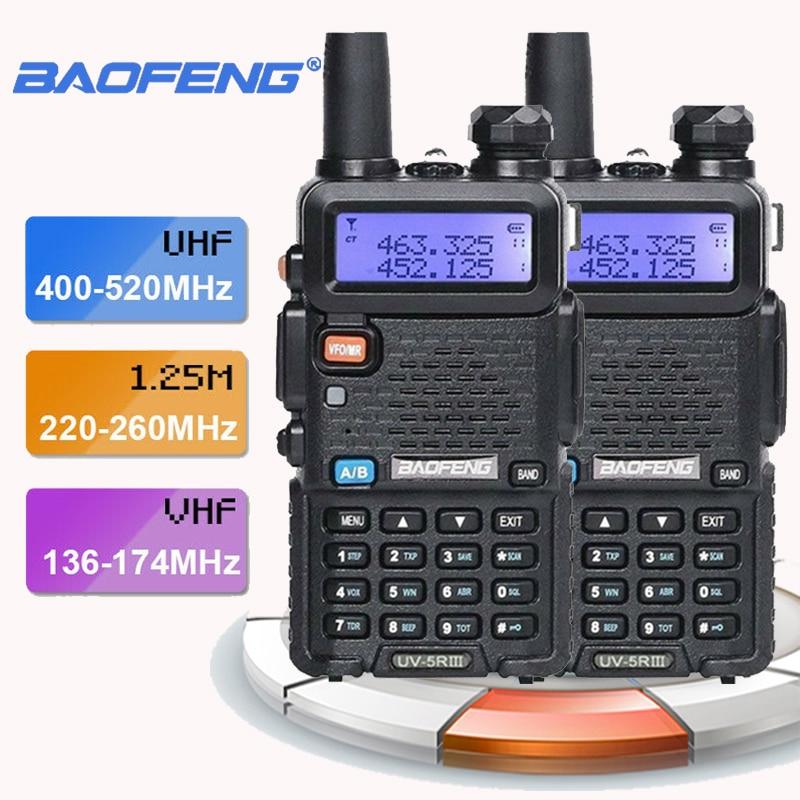 2 шт. Baofeng UV-5R III трехдиапазонная двойная антенна портативная Мобильная рация Comunicacion Pinganillo радио Baofeng CB разъемы Takie