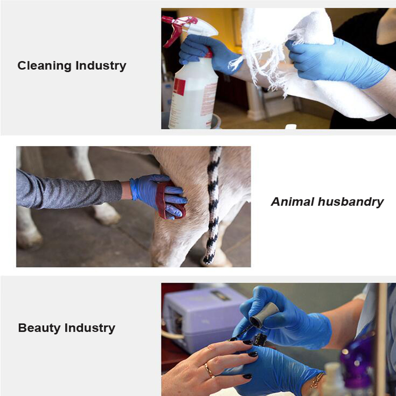 Image 5 - 100 pcs thickness disposable nitrile Gloves work glove Food Prep Cooking Gloves / Kitchen Food Service Cleaning Gloves safetySafety Gloves   -