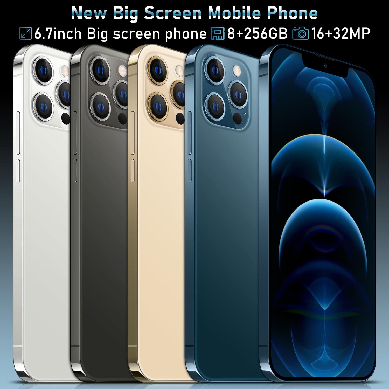 I12 Pro Max Grensoverschrijdende 6.7 Inch 12 + 512Gb Smartphone Fabrikanten Directe Verkoop Ik Mobiele Telefoon Android10.0 2